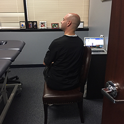 Cervical rotation with weight shifting is great for improved back and trunk motion.